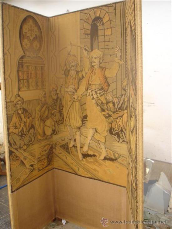 Antigüedades: biombo en tapiz arabe - Foto 3 - 30215701