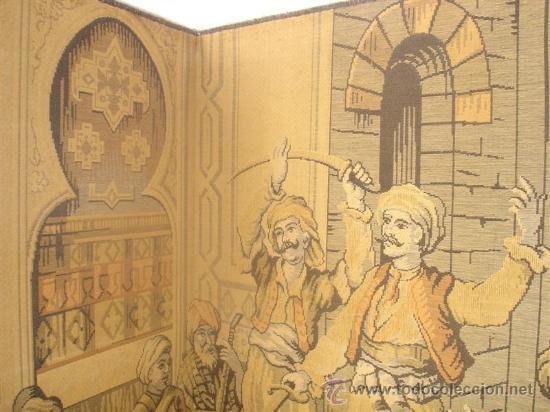 Antigüedades: biombo en tapiz arabe - Foto 4 - 30215701