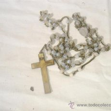 Antigüedades: ROSARIO DE BOLAS DE PIEDRA. Lote 30216214