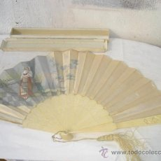Antigüedades: ABANICO DE MARFIL. Lote 42398945