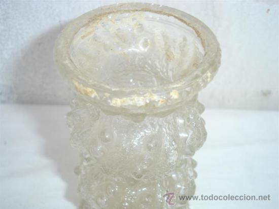 Antigüedades: florero de cristal tallado - Foto 2 - 30218156