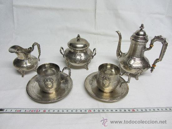 PRECIOSO JUEGO DE CAFÉ EN PLATA DE LEY DE FINALES S. XIX. (Antigüedades - Platería - Plata de Ley Antigua)