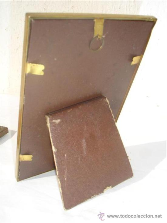 Antigüedades: portafoto metal - Foto 2 - 30228823