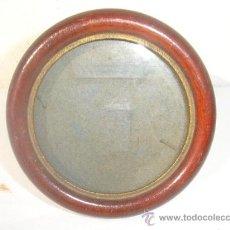 Antigüedades: PORTAFOTO REDONDO MADERA. Lote 30228932