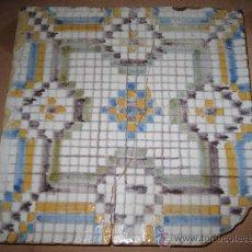 Antigüedades: AZULEJO ANTIGUO DE TOLEDO .CAPITAL. PPOS. SIGLO XX -. Lote 30250557