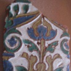 Antigüedades: AZULEJO ANTIGUO DE TOLEDO - GOTICO / MUDEJAR ARISTA O CUENCA - SIGLO XVI.. Lote 30251136