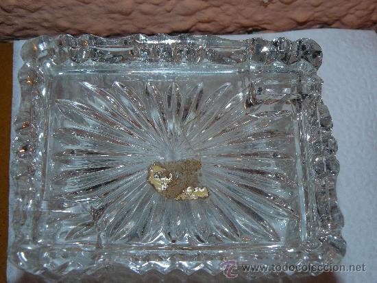 Antigüedades: CENICERO EN CRISTAL TALLADO DE BOHEMIA - Foto 2 - 30262302