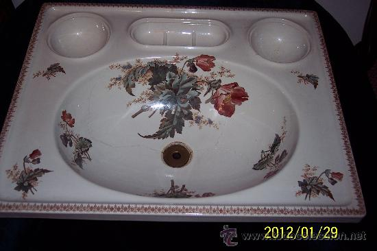 Lavabo Frances.Magnifica Pieza Antigua De Lavabo Frances Decor Sold