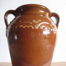 Antigüedades: ORZA EN CERAMICA VIDRIADA DE ALBA DE TORMES ( SALAMANCA ). Lote 30276970