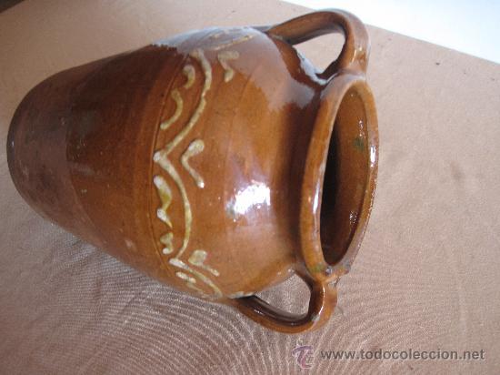 Antigüedades: ORZA EN CERAMICA VIDRIADA DE ALBA DE TORMES ( SALAMANCA ) - Foto 4 - 30276970
