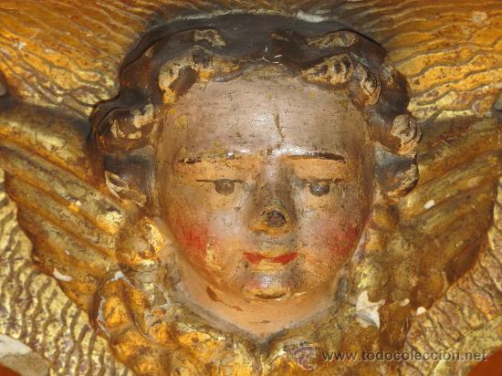 Antigüedades: ANTIGUA MÉNSULA ANGEL - Foto 2 - 30277925