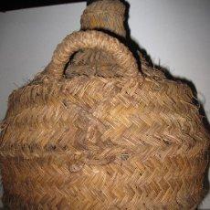 Antigüedades: GARRAFA DE VIDRIO O DAMAJUANA,FORRADA DE ESPARTO.. Lote 39528277
