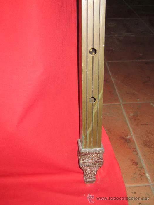Antigüedades: Cabecero de cama de matrimonio años 30, en laton dorado. - Foto 3 - 30286940