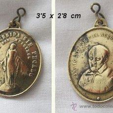 Antigüedades: MEDALLA ANTIGUA SAN VICENTE DE PAÚL Y LA VIRGEN MARIA. Lote 147334662