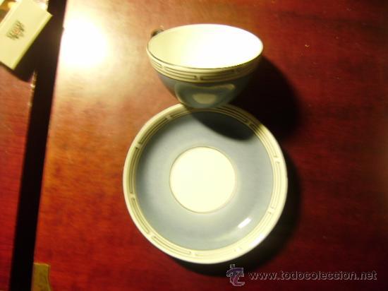 TAZA CON PLATO SAN JUAN.SEVILLA. (Antigüedades - Porcelanas y Cerámicas - San Juan de Aznalfarache)