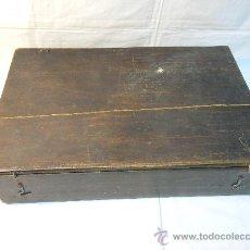 Antigüedades: CAJA DE MADERA PARA RESTAURAR. SIGLO XIX. Lote 30306439