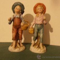 Antigüedades: PAREJA DE PORCELANA ITALIANA. Lote 30310119