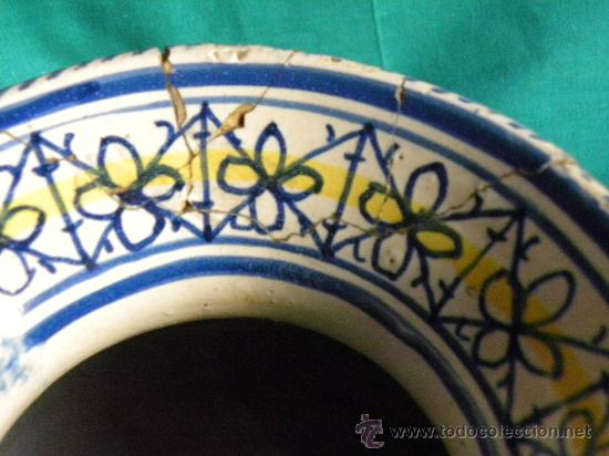Antigüedades: Escupidera cerámca Triana ( Sevilla) con animales y arquitectura prnc. S. XX - Foto 5 - 30311624