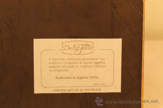 Antigüedades: CUADRO CON MINIATURA EN PLATA DE LEY ALEGORIA PRIMAVERA - Foto 3 - 30320851
