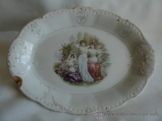 Plato fuente antigua de vajilla de porcelana comprar - Vajillas de la cartuja ...