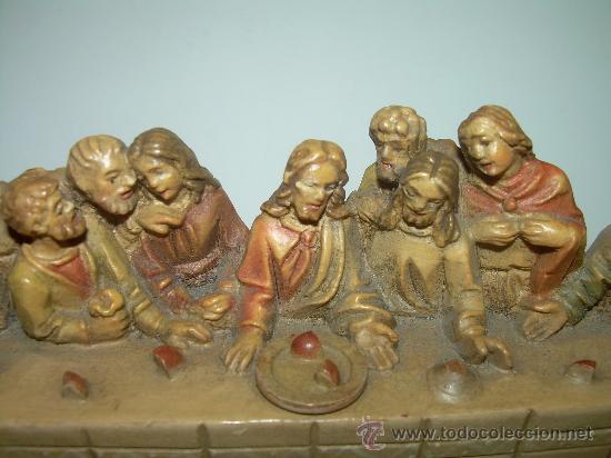 Antigüedades: ANTIGUA Y BONITA SANTA CENA TALLADA EN MADERA. - Foto 2 - 35383417