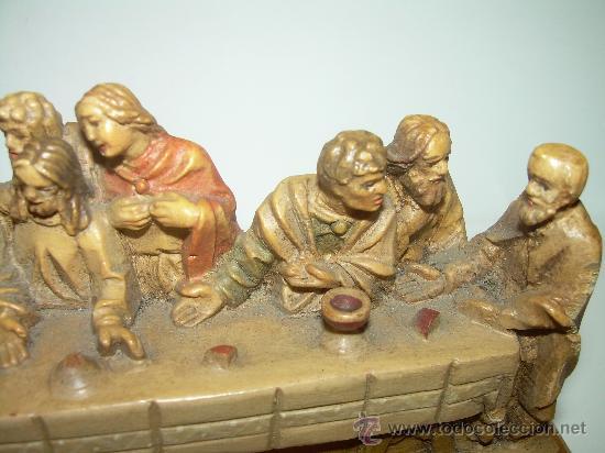 Antigüedades: ANTIGUA Y BONITA SANTA CENA TALLADA EN MADERA. - Foto 6 - 35383417