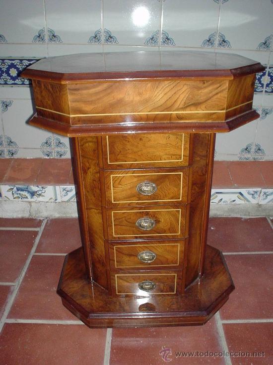 Costurero de madera con 5 cajoneras mueble de comprar for Mueble costurero