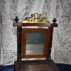 Antigüedades: PRECIOSO PEINADOR ESTILO IMPERIO FILETEADO EN MADERA DE CAOBA - PRINCIPIOS DEL S.XIX. Lote 30354756