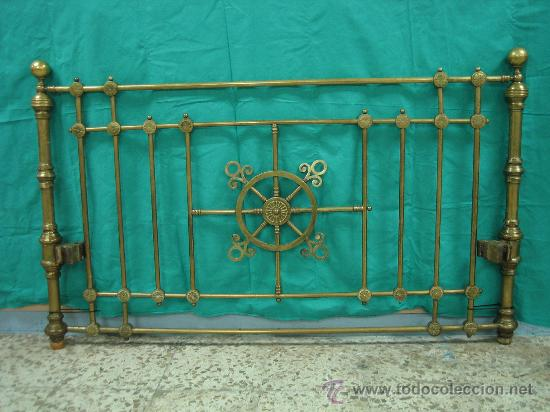 Cabecero antiguo de laton o bronce cama 153 x 9 comprar - Cabeceros de cama antiguos ...