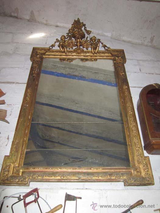 Espejo neocl sico dorado de grandes dimensiones comprar - Espejos grandes segunda mano ...