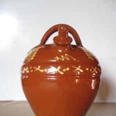 Antigüedades: BOTIJO EN CERAMICA POPULAR VIDRIADA.- SALVATIERRA DE LOS BARROS ( BADAJOZ ). Lote 30364374