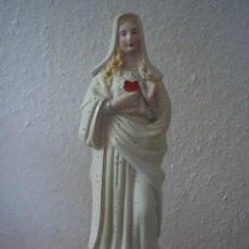 Antigüedades: VIRGEN DE PORCELANA BISCUIT ANTIGUA NUMERADA. Lote 30365143