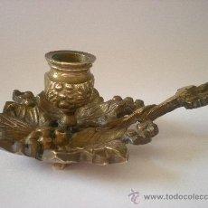 Antigüedades: ANTIGUO CANDELERO DE COBRE AÑOS 20. Lote 30374474