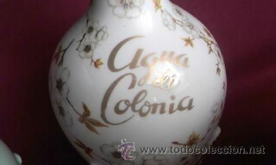 Antigüedades: Antiguo juego de coqueta de la prestigiosa marca HISPANIA MADE IN SPAIN.Años 60,Porcelana - Foto 4 - 30379982