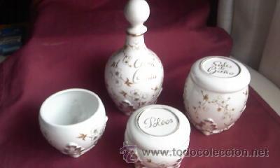Antigüedades: Antiguo juego de coqueta de la prestigiosa marca HISPANIA MADE IN SPAIN.Años 60,Porcelana - Foto 7 - 30379982