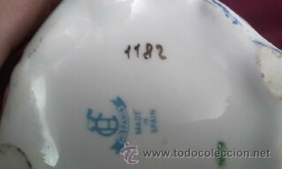 Antigüedades: Antiguo juego de coqueta de la prestigiosa marca HISPANIA MADE IN SPAIN.Años 60,Porcelana - Foto 8 - 30379982
