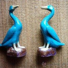 Antigüedades: FIGURAS DE PORCELANA CHINA. 24,5 CM.. Lote 30380307