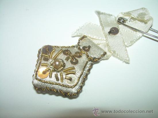 Antigüedades: ANTIGUO ESCAPULARIO BORDADO HILO DE ORO. - Foto 2 - 30389426