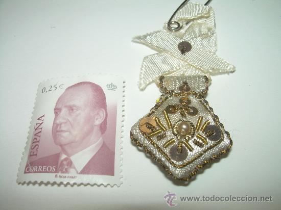 Antigüedades: ANTIGUO ESCAPULARIO BORDADO HILO DE ORO. - Foto 4 - 30389426