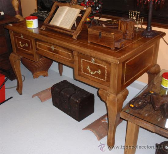 Mesa antigua de despacho o escritorio madera m comprar for Mesas antiguas de madera