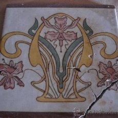 Antigüedades: AZULEJO ANTIGUO - VALENCIANO - ESTILO ART - NOVEAU O MODERNISTA. PPOS. SIGLO XX.. Lote 30409381