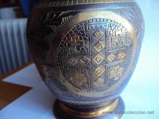 Antigüedades: Jarron .Metal- Deco - Art . - Foto 4 - 30412094