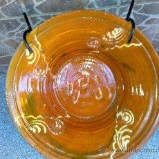Antiquités: ANTIGUO LEBRILLO DE BARRO, VIDRIADO Y PERSONALIZADO.. Lote 30447975