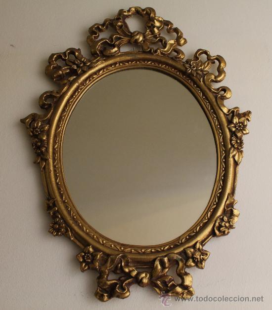 Antiguo espejo en esta o preparado para colgar comprar for Espejos ovalados de pared
