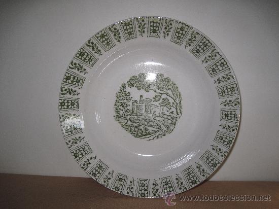 PLATO ANTIGUO DE PORCELANA- LA CARTUJA - (Antigüedades - Porcelanas y Cerámicas - Otras)