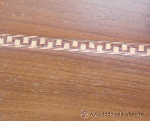 Antigüedades: Mesa antigua de despacho o escritorio. Madera maciza nogal español. 3 cajones. Medida 129x70x 80 - Foto 8 - 30403528