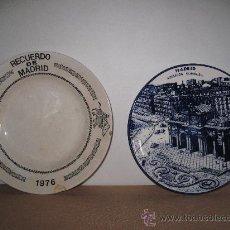Antigüedades: LOTE DE DOS PLATOS DE PORCELANA - MADRID.. Lote 30509967