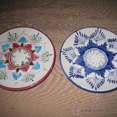 Antigüedades: PLATITOS DE MANISES. Lote 30512331