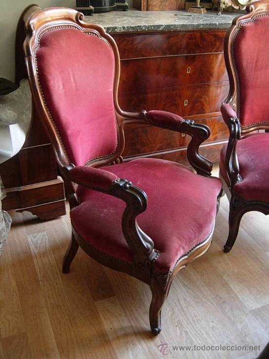 Butaca isabelina de caoba sillon comprar sillones - Sillones antiguos para restaurar ...