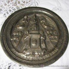 Antigüedades: PRECIOSO PLATO DE J. REBULL REUS 40 CMS REPRESENTANDO A LA VIRGEN DE MONTSERRAT. Lote 30540801